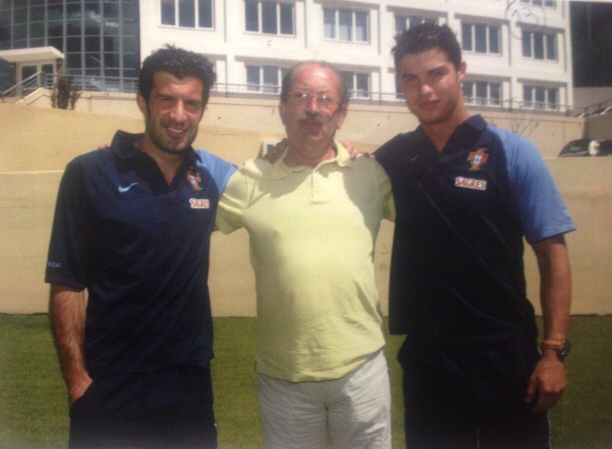 Dois vencedores da Bola de Outo e o homem que os trouxe para o Sporting quando começaram a reluzir (Créditos: D.R.)