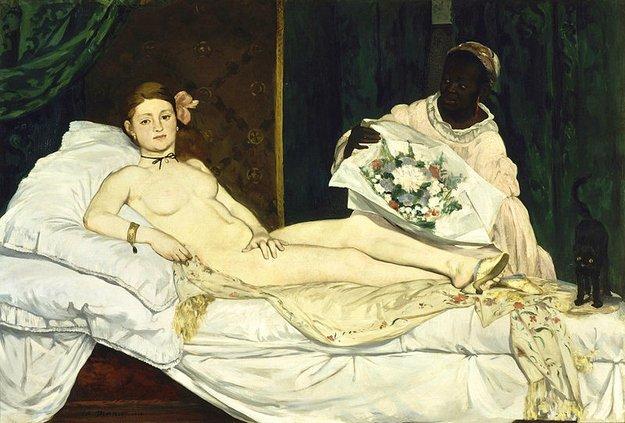 Olympia, de 1863 é considerada uma das obras primas de Manet