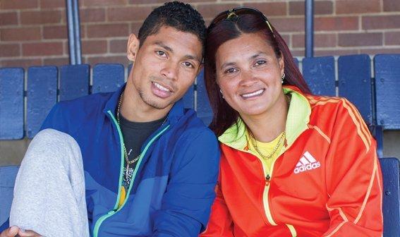 Wayde van Niekerk e mãe