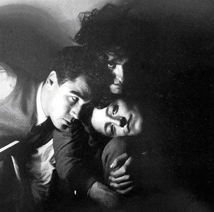 Alexandre com Nora Mitrani e Marcelino Vespeira fotografados por Fernando Lemos, 1950