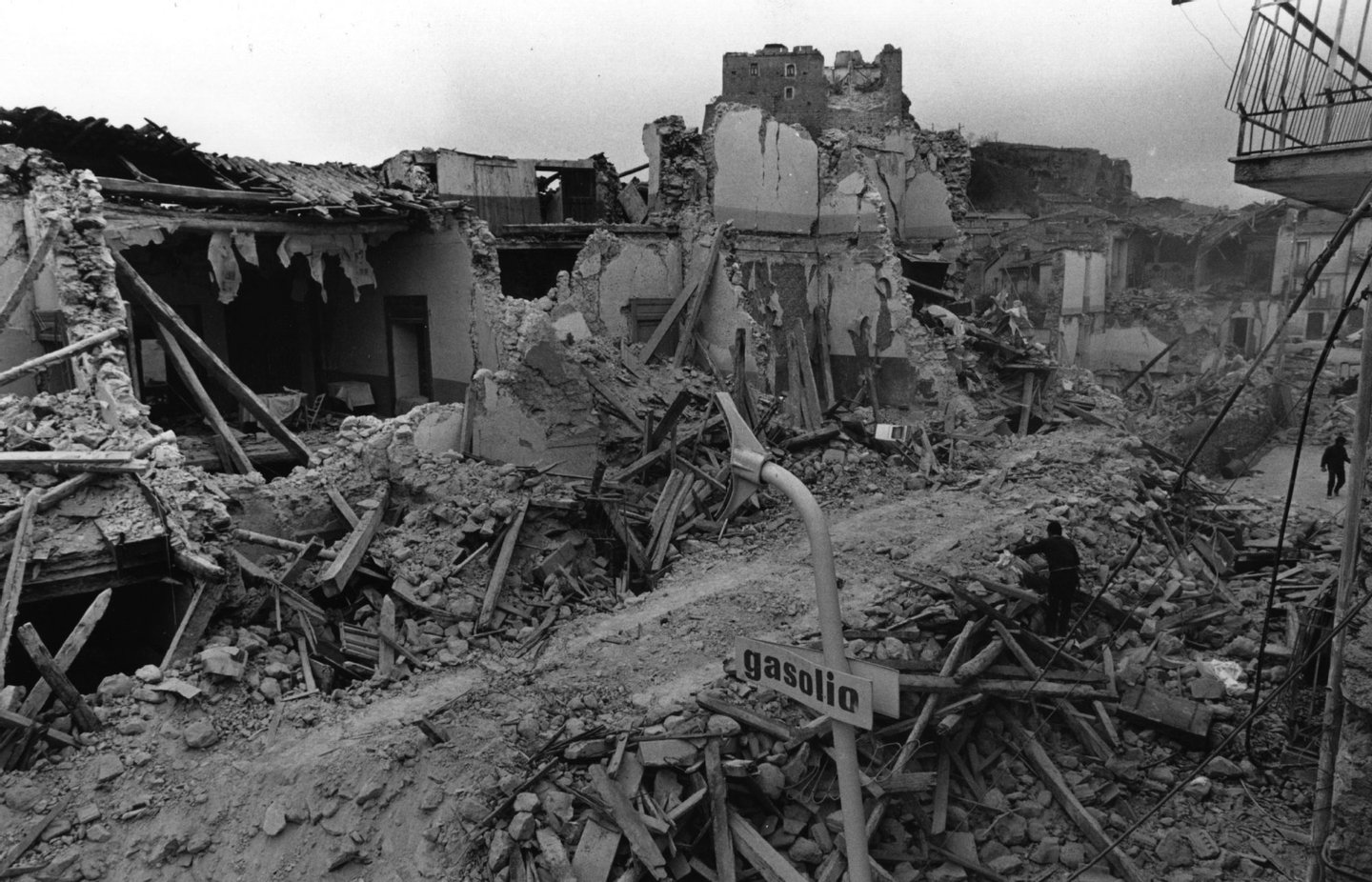 circa 1980: Ruins left after an earthquake hit Southern Italy. (Photo by Evening Standard/Getty Images)