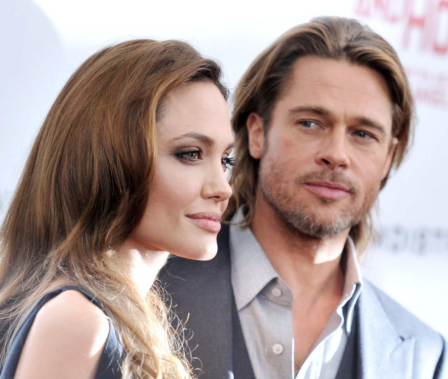 """NEW YORK, NY - DECEMBER 05: Angelina Jolie and Brad Pitt attend the premiere of """"In the Land of Blood and Honey"""" at the School of Visual Arts on December 5, 2011 in New York City. (Photo by Stephen Lovekin/Getty Images)"""