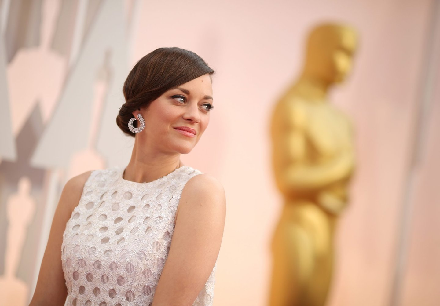 HOLLYWOOD, CA - FEBRUARY 22: Actress Marion Cotillard attends the 87th Annual Academy Awards at Hollywood & Highland Center on February 22, 2015 in Hollywood, California. (Photo by Christopher Polk/Getty Images)