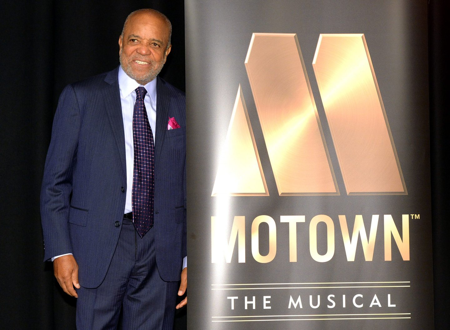 """LONDON, ENGLAND - OCTOBER 05: Berry Gordy attends a photocall for """"Motown - The Musical"""" at The Hospital Club on October 5, 2015 in London, England. (Photo by Anthony Harvey/Getty Images)"""