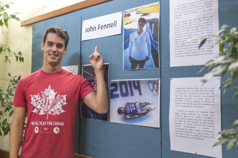 john fennell, john, fennell, canada, atleta, olímpico, 2016, escola, almada, palestra,
