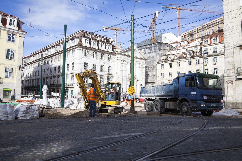 Obras, obras lisboa, construção, 2016, lisboa, transito, cais, cais do sodré,