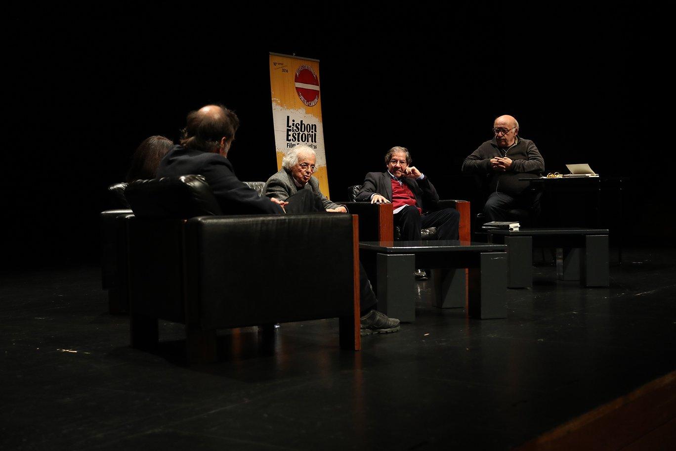 Paulo Branco Houria Abdelouahed, Adónis, Nuno Júdice e Jorge Silva Melo na sexta-feira à noite no CCB