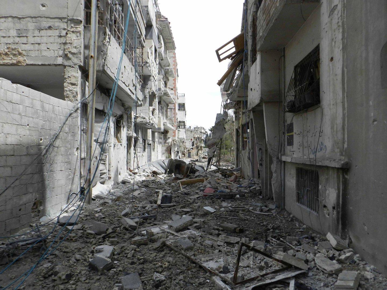 Exemplo da destruição vivida na guerra da Síria