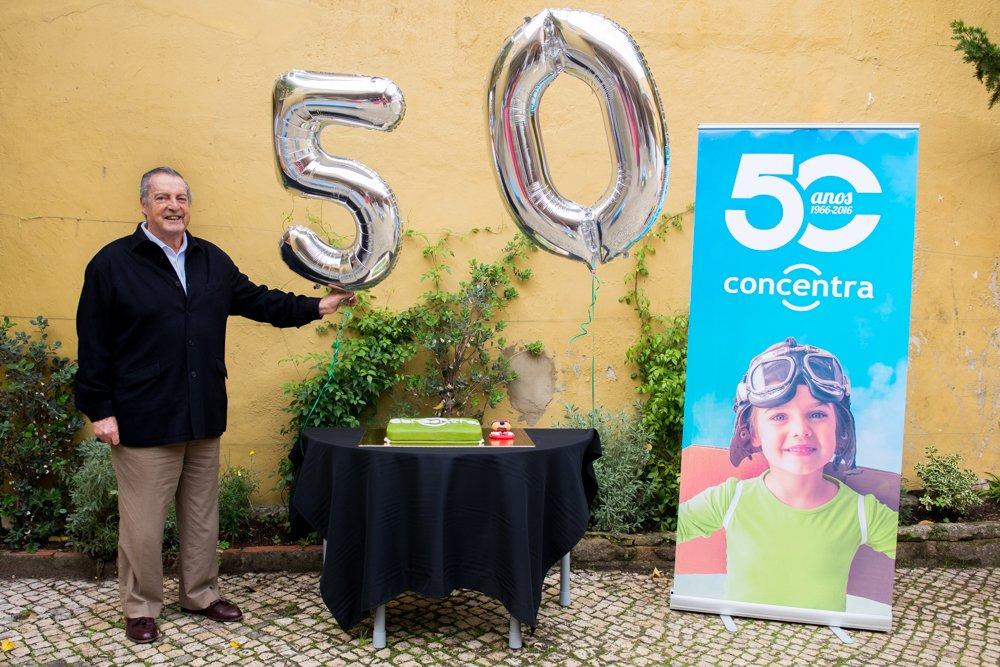 Peddro Feist, 80 anos, na festa das 5 décadas da Concentra
