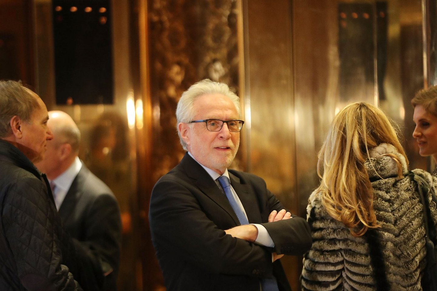 NEW YORK, NY - NOVEMBER 21: CNN's Wolf Blitzer arrives at Trump Tower on November 21, 2016 in New York City. President-elect Donald Trump and his transition team are in the process of filling cabinet and other high level positions for the new administration. (Photo by Spencer Platt/Getty Images)