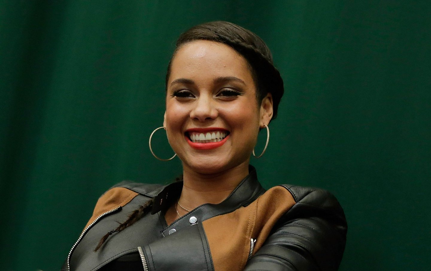 """NEW YORK, NY - NOVEMBER 12: (EXCLUSIVE COVERAGE) Alicia Keys' """"Blue Moon: From The Journals Of Mama Mae & LeeLee"""" Book Release at Barnes & Noble Tribeca on November 12, 2014 in New York City. (Photo by John Lamparski/Getty Images)"""