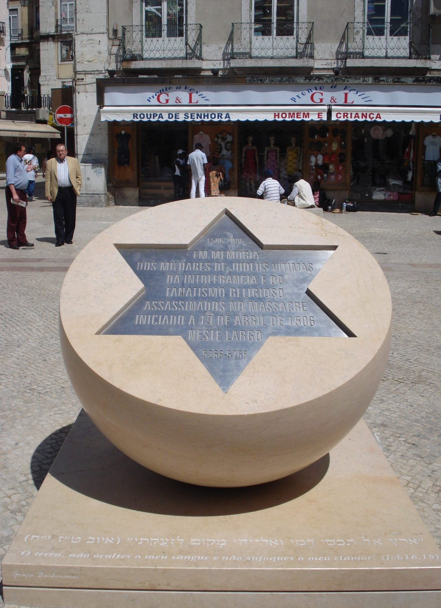 Homenagem aos judeus assassinados no massacre de Lisboa, em 1506
