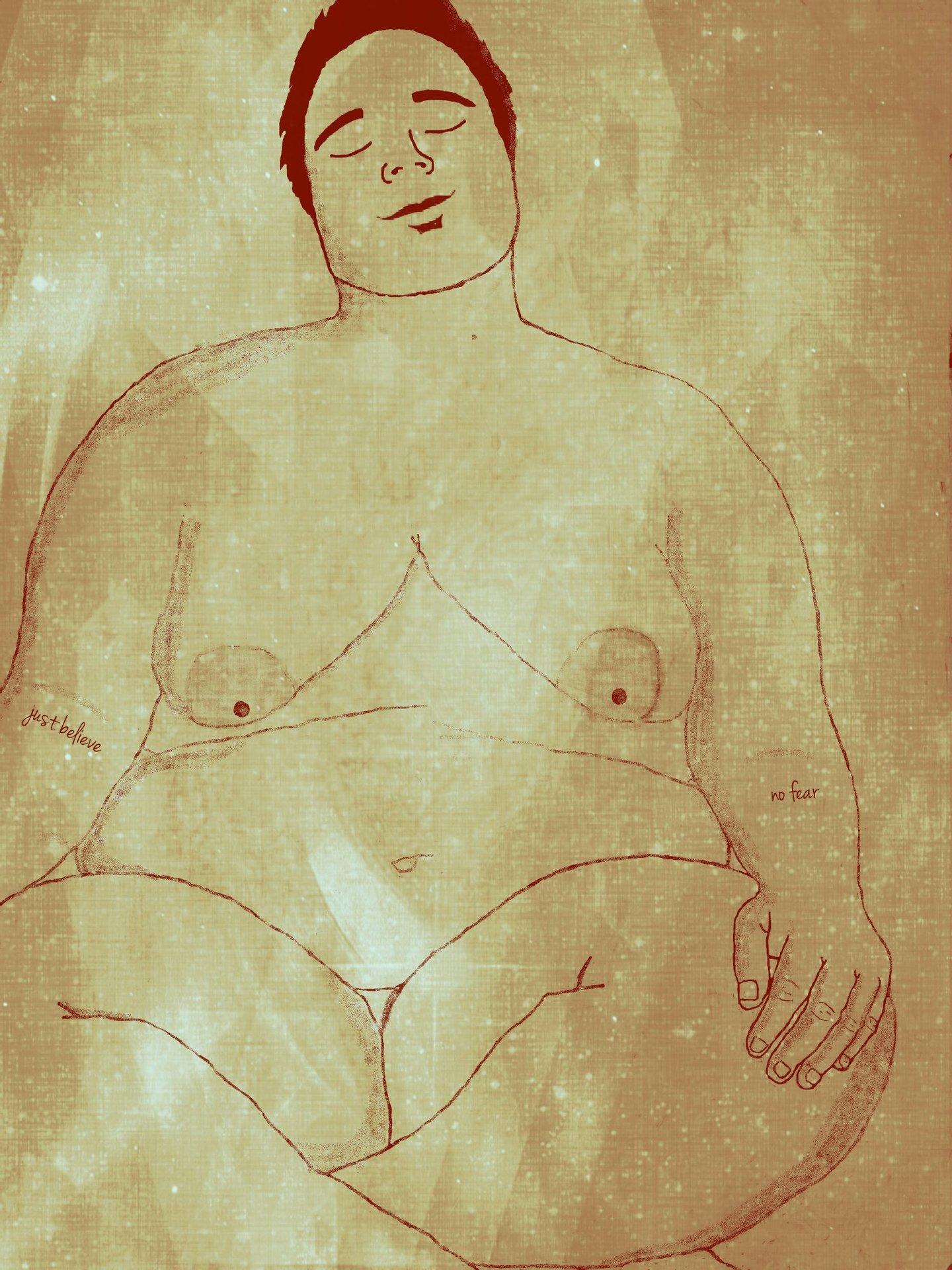 Ilustração de Jackie Paola para o blogue Gorda&Sapatão