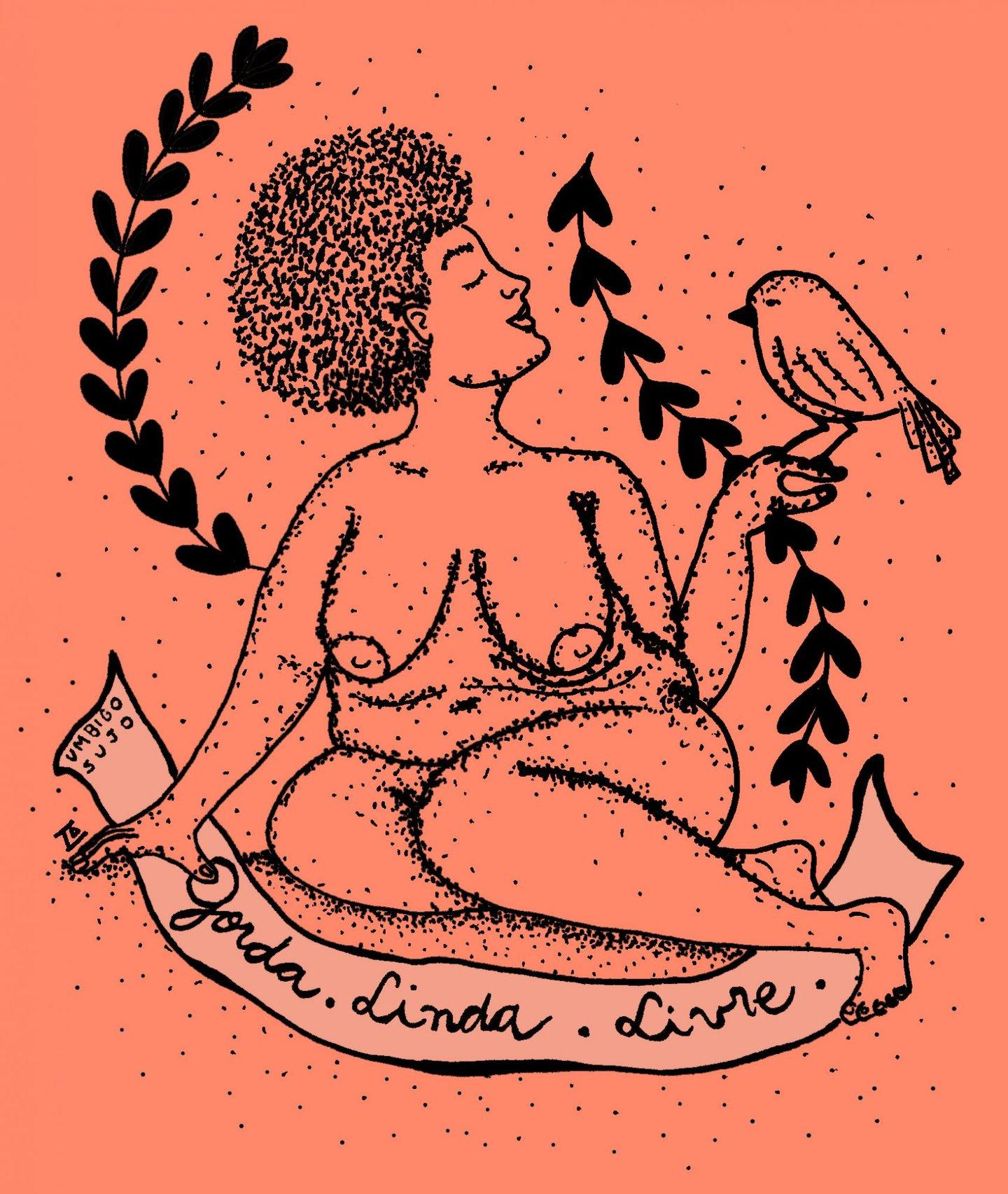 Ilustração de Giovana Pinhata para o blogue Gorda&Sapatão
