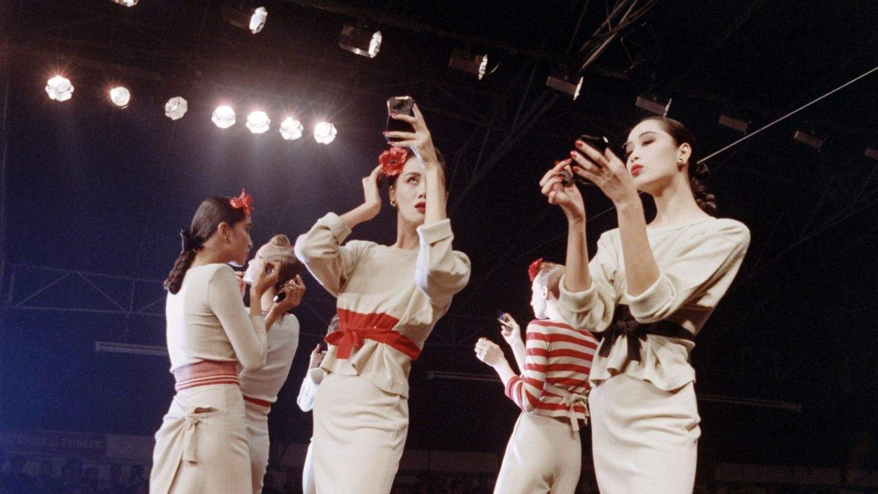 09033345f Modelos no desfile de primavera verão 1988 de Sonia Rykiel. © Pierre  Guillaud AFP Getty Images