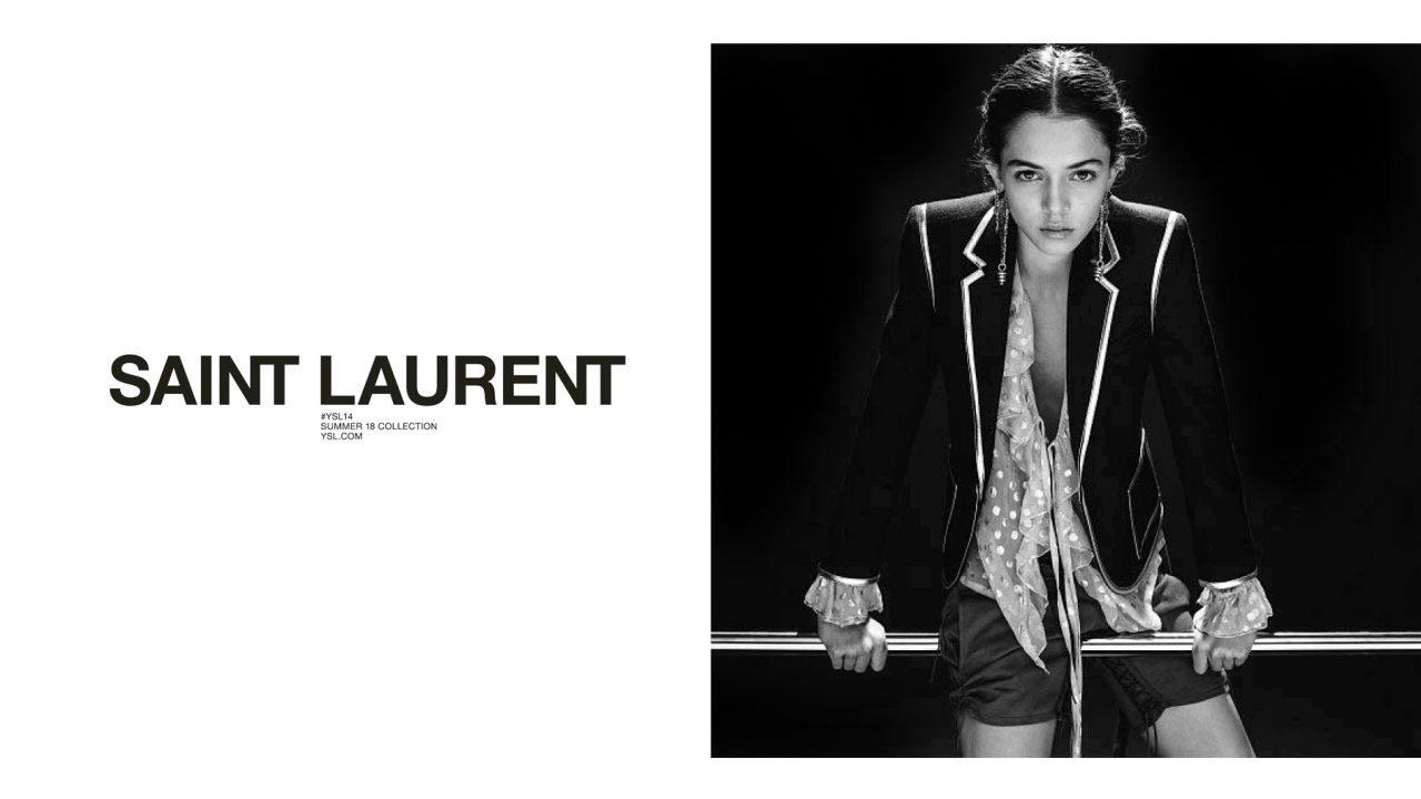 6f98909b2 A campanha mundial de primavera 2018 da Saint Laurent com Maria Miguel