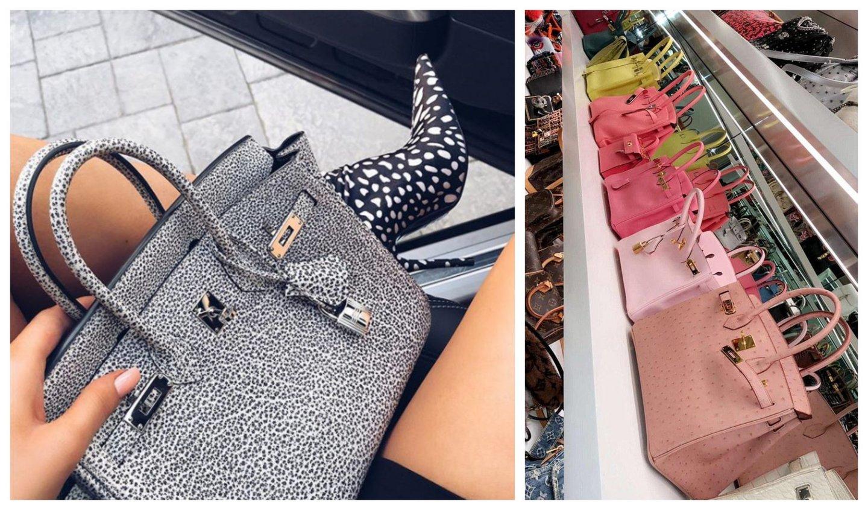 2d3514def14 Imagens retiradas do Instagram e do Snapchat de Kylie Jenner. A da direita  mostra o closet da socialite
