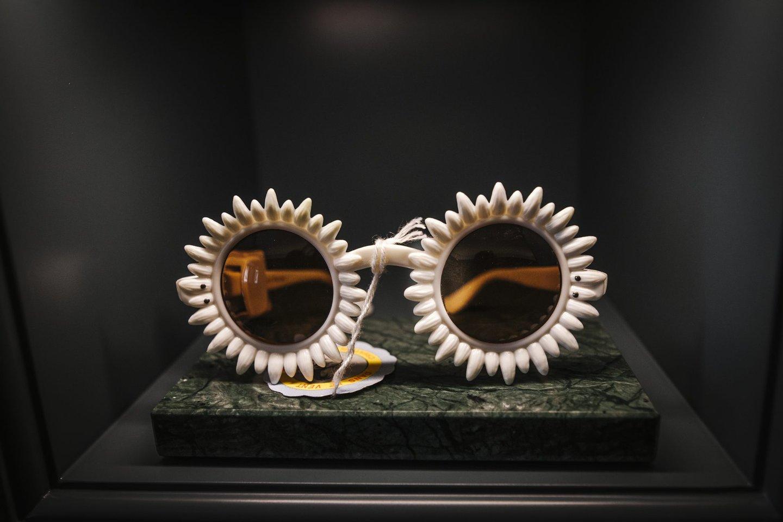 50c95639d554b Expostos na loja, uns óculos da coleção da família © André  Carrilho Observador
