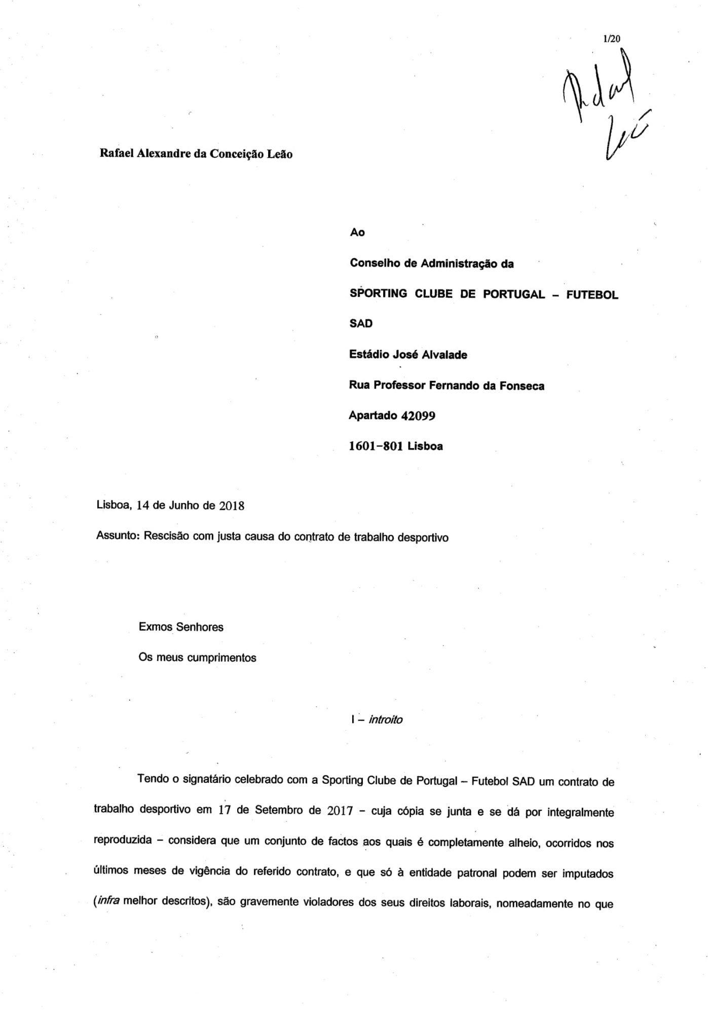 exemplo de carta de rescisao de contrato ginasio