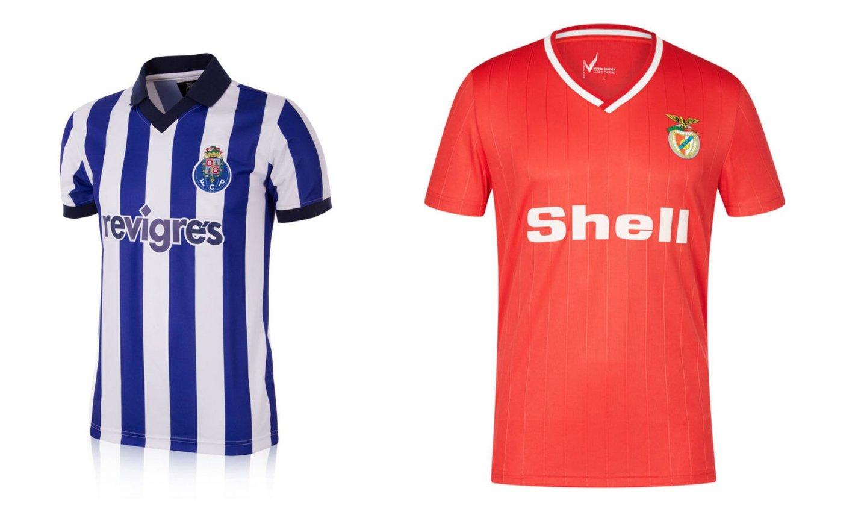 As coleções retro do clubes portugueses recuperam antigos equipamentos das  equipas. Dos materiais ao próprio design 99f0a2668a2e6