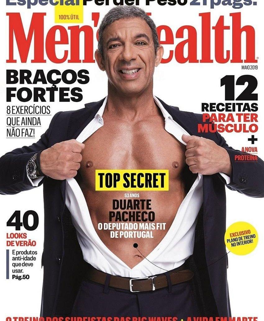 aad6c3350 Deputado do PSD Duarte Pacheco na capa da Men's Health – Observador
