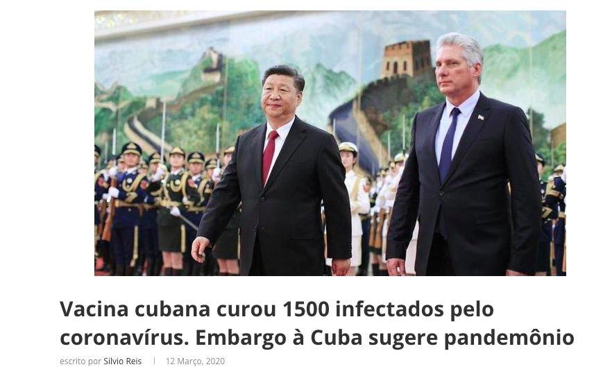 FAKE NEWS: Vacina cubana curou 1.500 infetados pelo novo coronavírus?