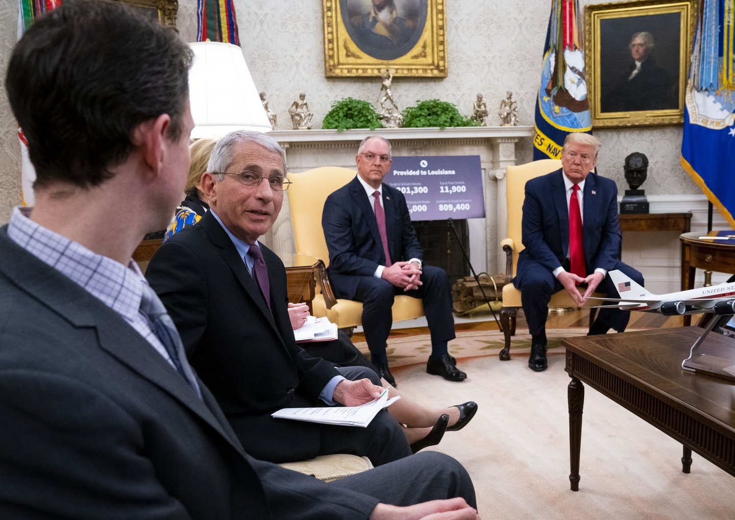 President Trump Meets With Louisiana Governor John Bel Edwards At White House