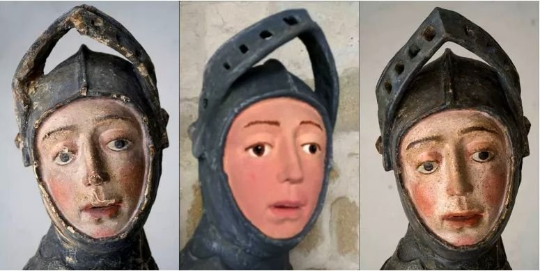 Do you remember Ecce Homo and the statue of St. George? There's one more disfigured image...