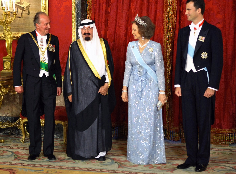 King Juan Carlos of Spain (L), Queen Sof