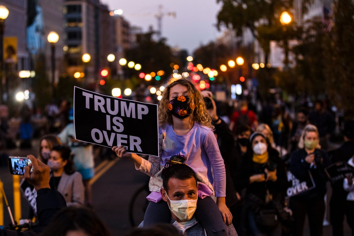 Protests Continue In Washington, DC As Presidential Contest Remains Undecided