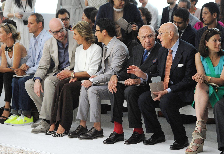 Ermenegildo Zegna Backstage & Front Row - Milan Fashion Week Spring/Summer 2012