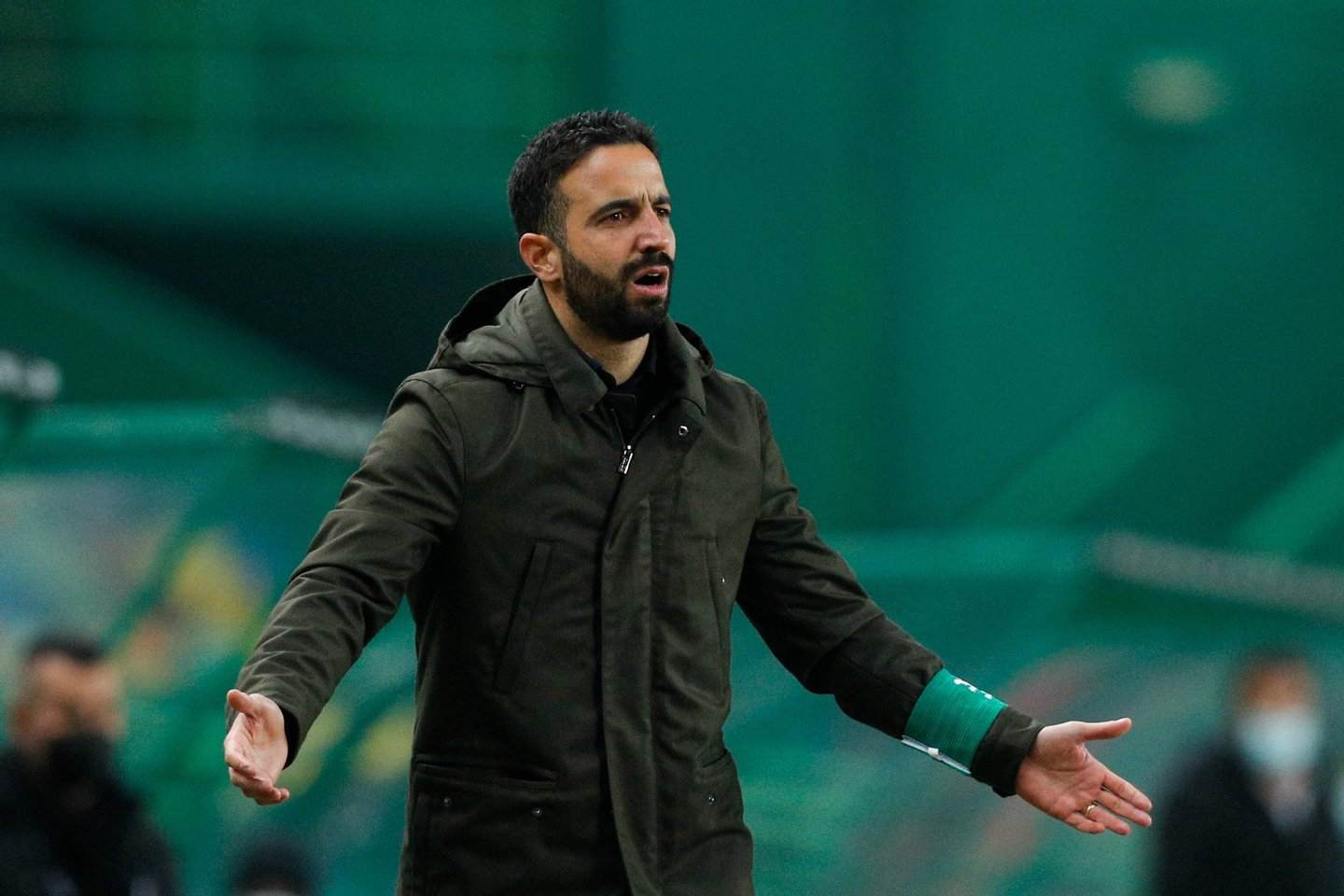 Sporting's head coach Ruben Amorim reacts during the Portuguese First League soccer match with Rio Ave held at Alvalade Stadium in Lisbon, Portugal, 15th January 2021. ANTONIO COTRIM/LUSA