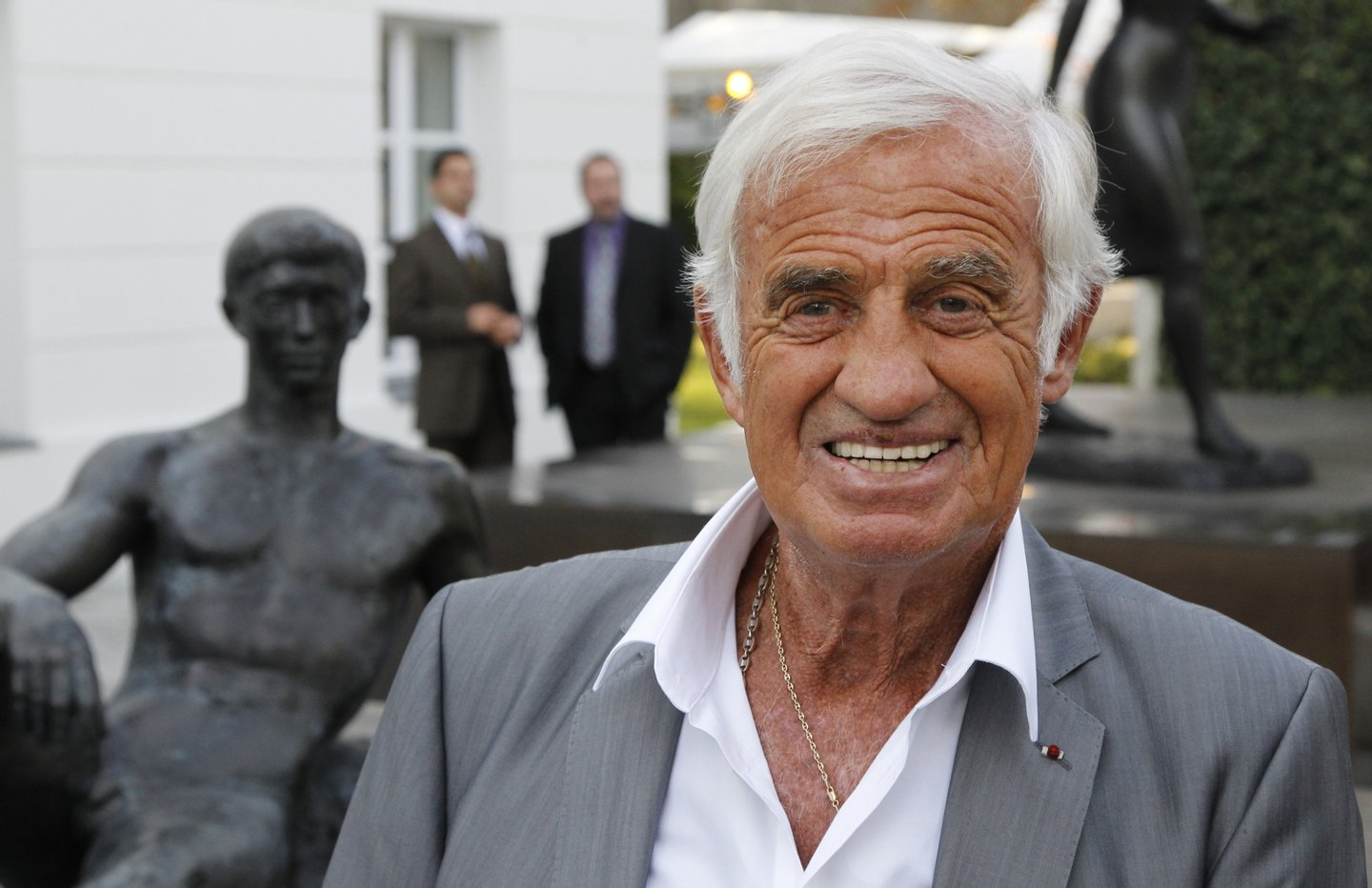 French actor Jean-Paul Belmondo poses be