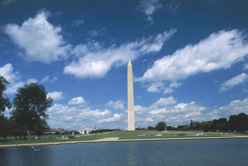 Monument to George Washington, marble obelisk