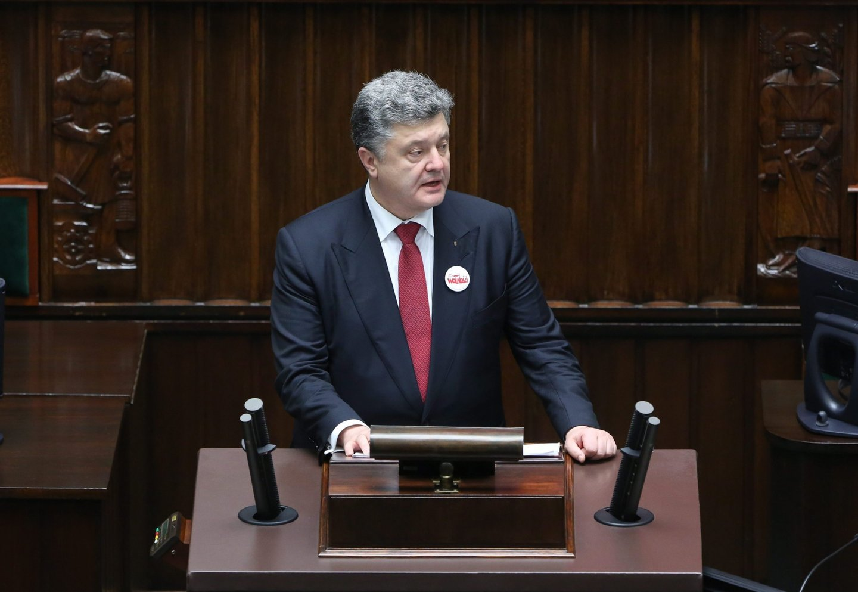 Ukrainian President Petro Poroshenko visits Poland