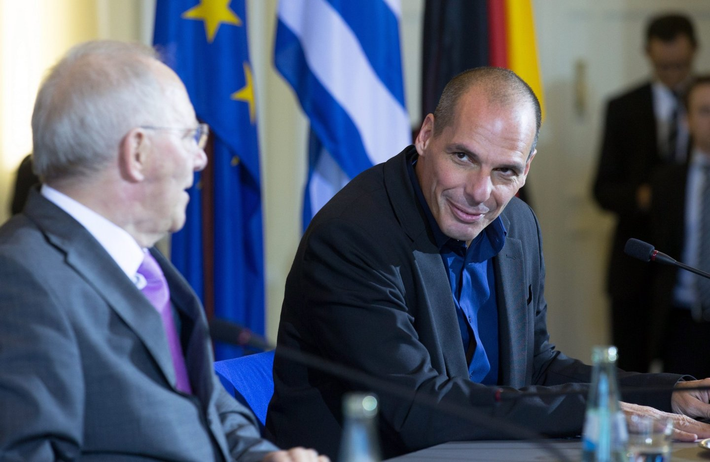 Greek finance minister Varoufakis in Germany