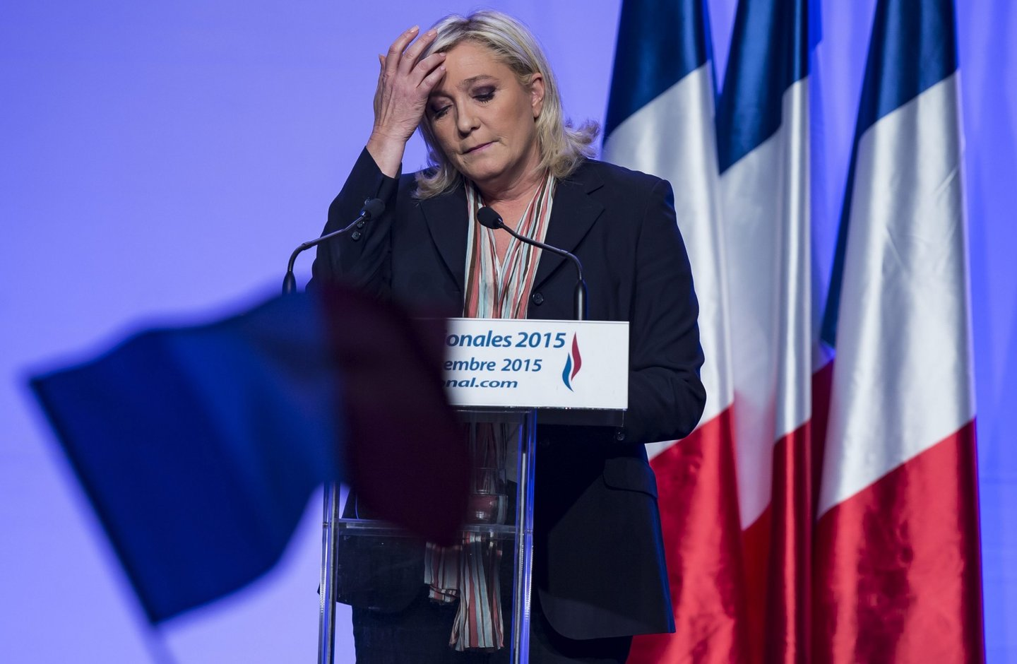 National Front Le Pen campaign rally